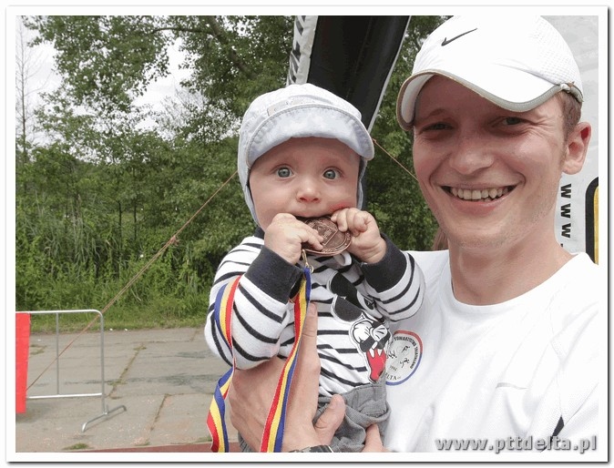 na mecie ojciec i syn Płock 2011