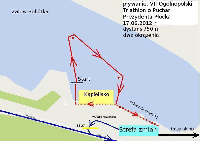 trasa pływania 2012