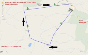 trasa kolarska - 2x 11,5km