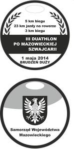 medal za ukończenie duathlonu