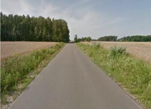 asfalt na trasie kolarskiej