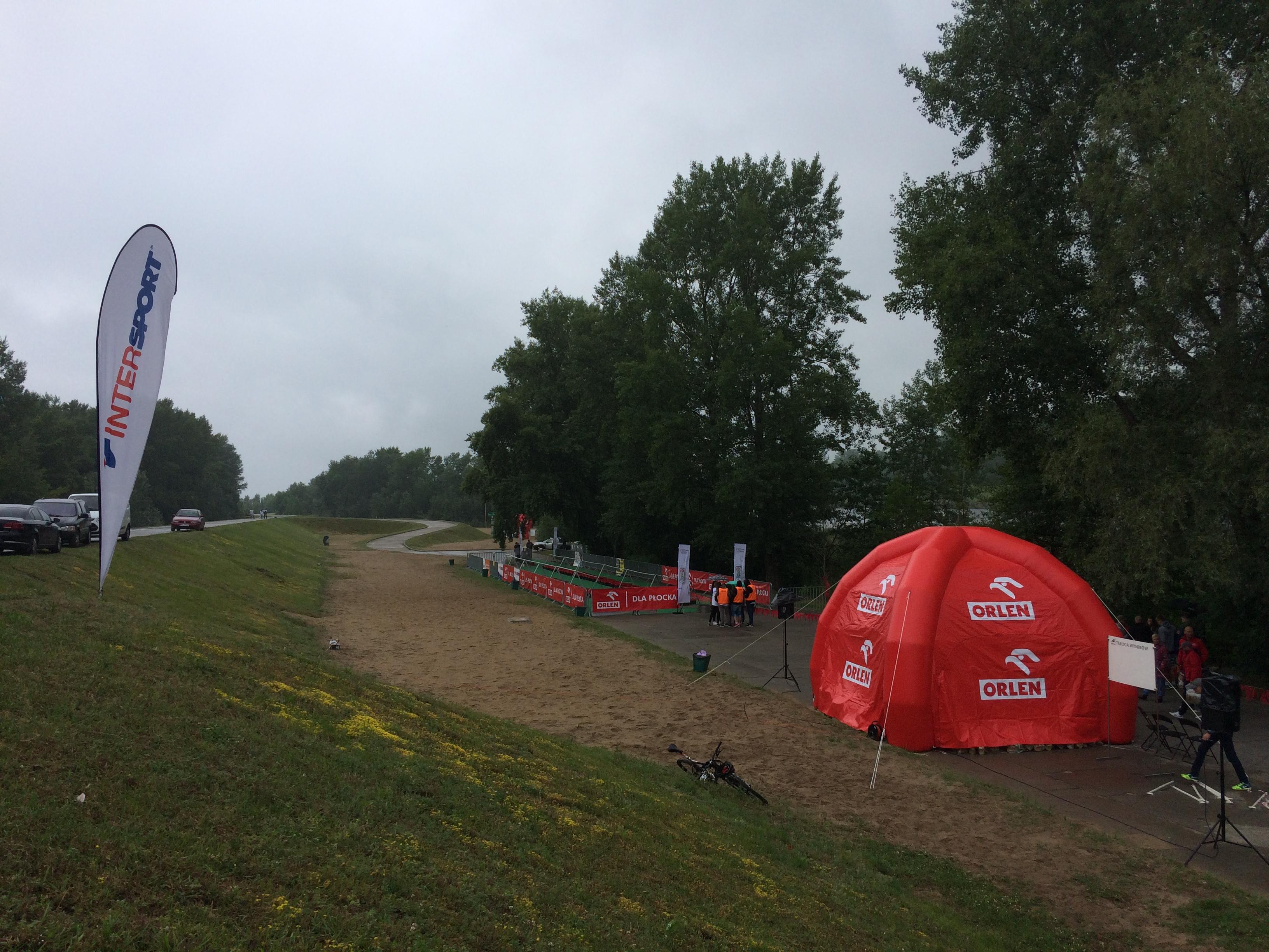 widok na Sobótkę, park rowerowy XII triathlon Płock