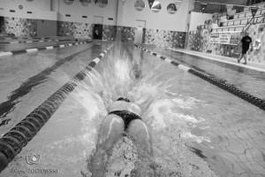 Trening na pływalni